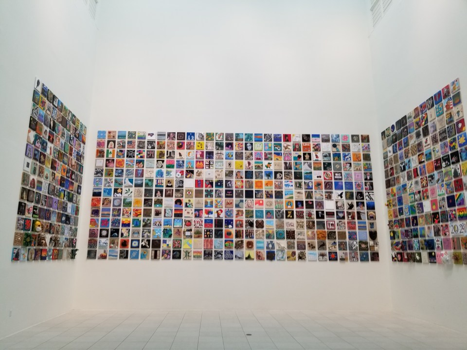 Imagination squared is a must of things to do in Jacksonville fl. it is a huge wall display of individual squares created by locals of all ages at the museum of contemporary art.