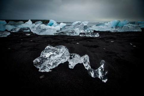 Iceland black beach ice diamonds photography