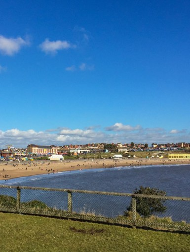 View of Barry Island from the little island