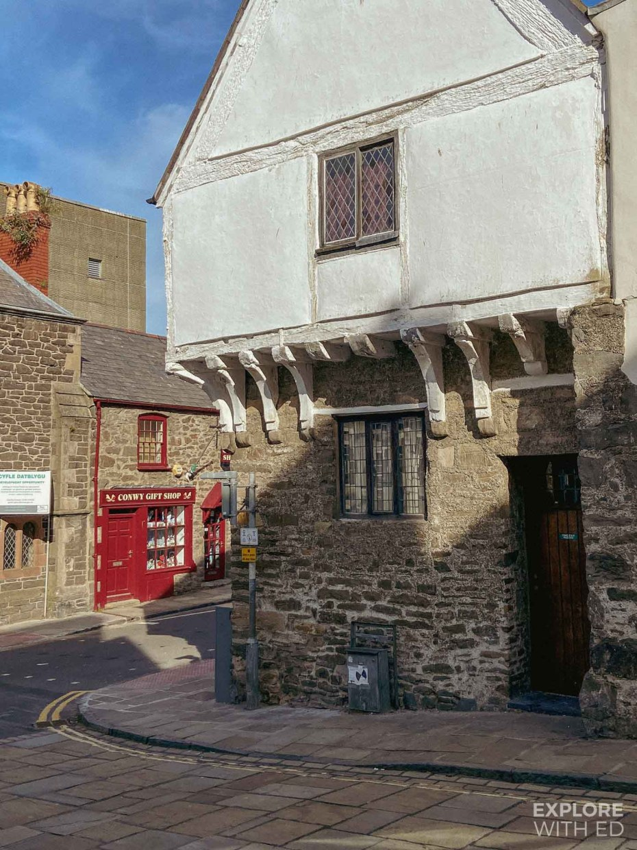 Conwy Castle Street and High Street