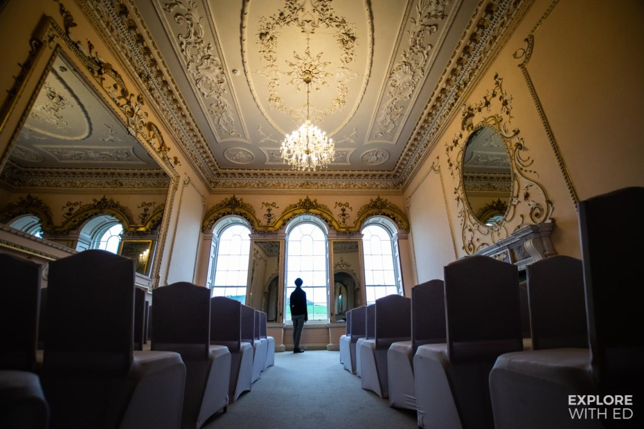 The Music Room is used for weddings at Nanteos Mansion near Aberystwyth