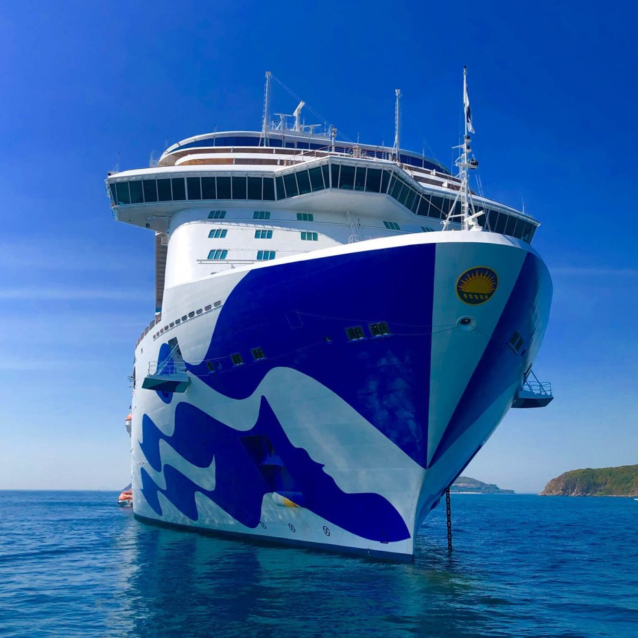Princess cruises ship with sea with livery. Image supplied by Princess Cruises.