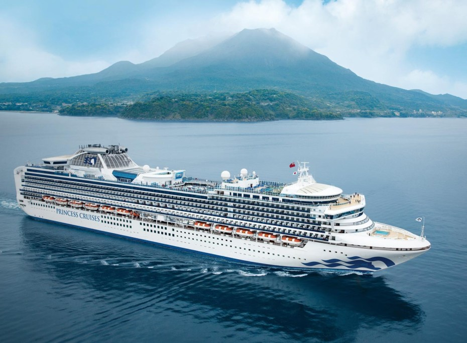 Princess Cruises long haul destinations for British cruisers. Image supplied by Princess Cruises.