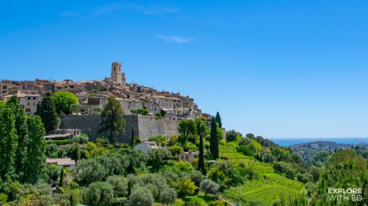 Landcape photo of St Paul de Vence in France