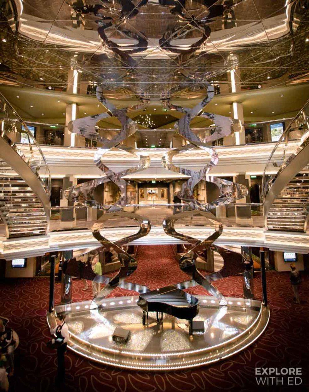 MSC Meraviglia glitzy atrium