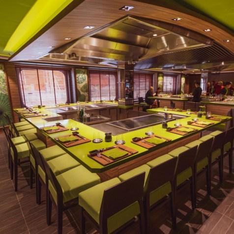 Japanese and sushi restaurant onboard MSC Bellissima
