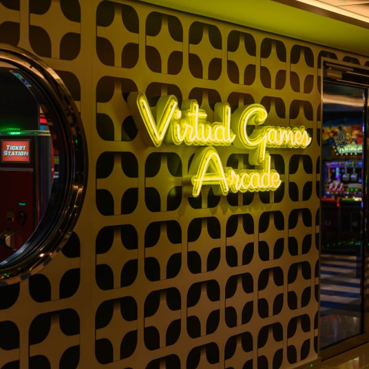 Virtual Games Arcade on MSC Bellissima