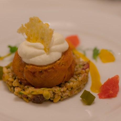 Gala dinner menu by Raymond Blanc on MSC Bellissima