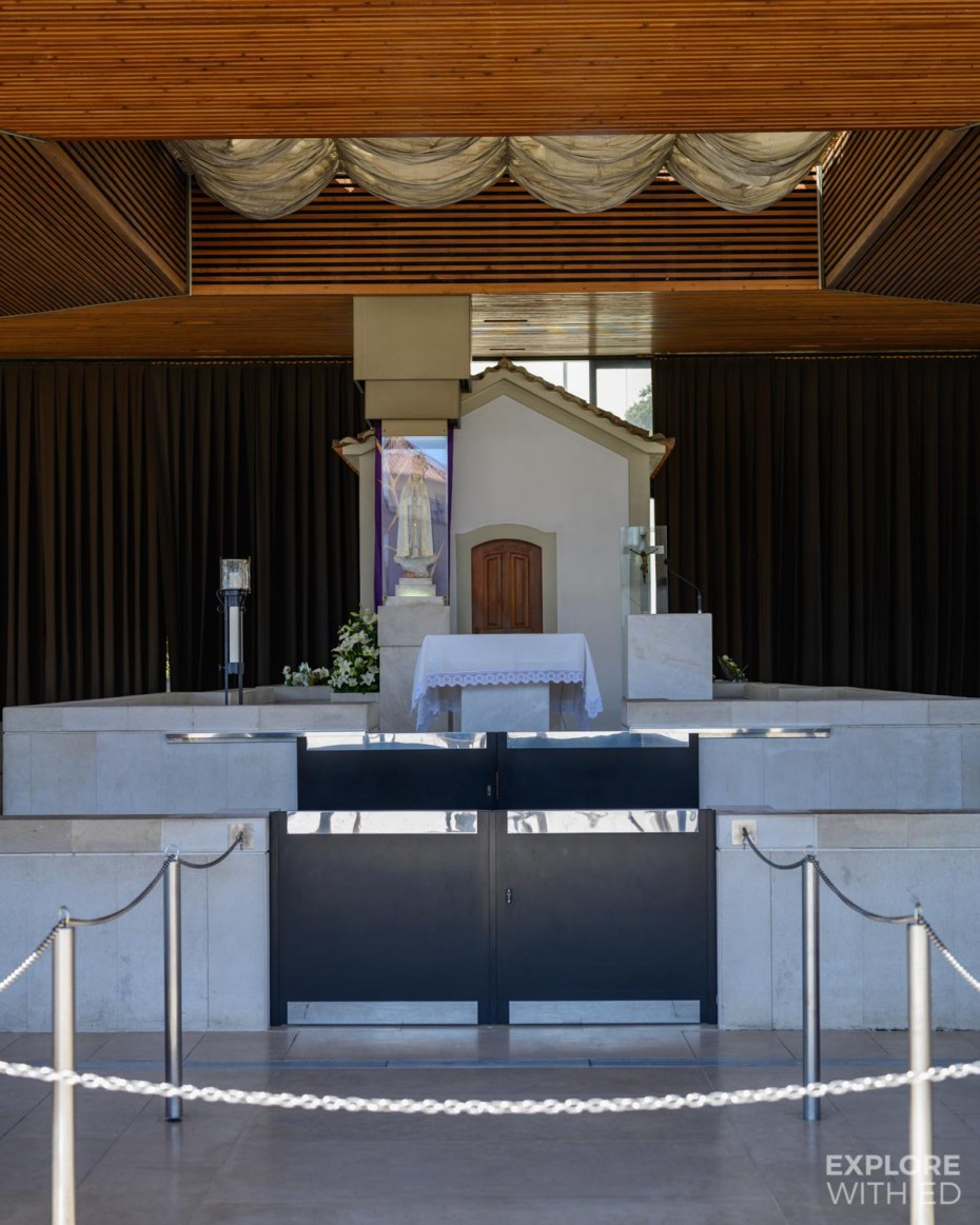 The small chapel of the Apparitions in Fatima, Portugal