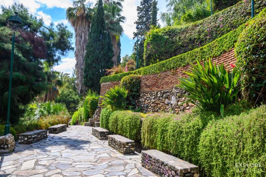 Beautiful walk up to Gibralfaro in Malaga