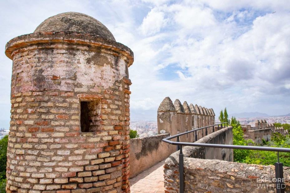 Castle Gibralfaro fortress walls