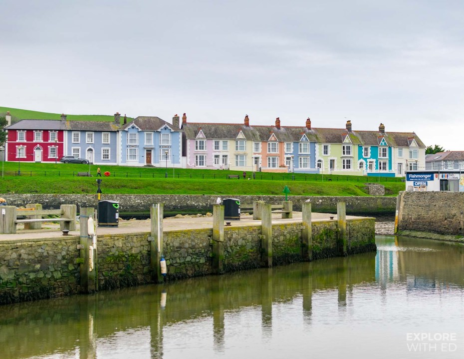 Pretty Aberaeron Harbour in West Wales