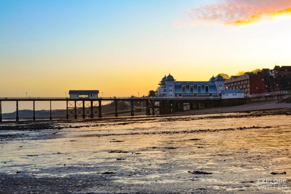 Penarth Pier at sunset