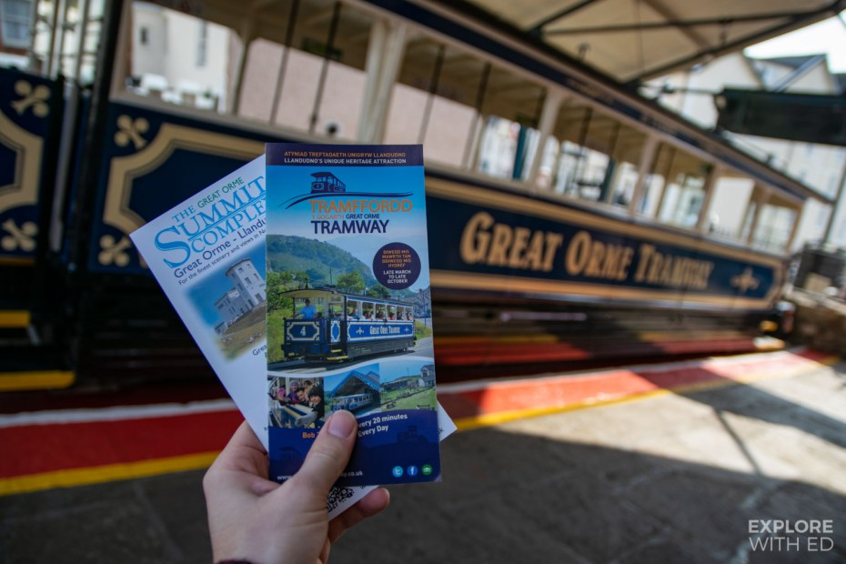 The Great Orme Tramway in Llandudno, Wales