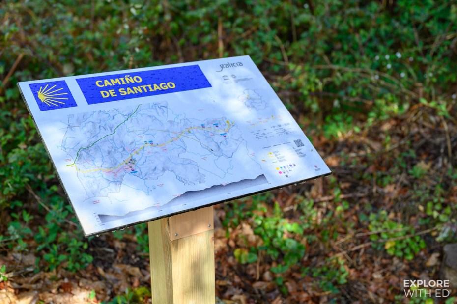 Camino de Santiago map