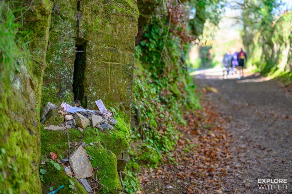 A small shrine on the Camino de Santiago