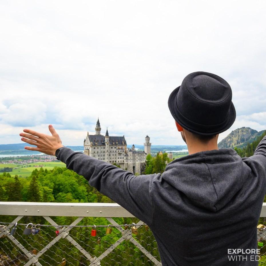 Neuschwanstein Castle, viewed from Queen Mary's Bridge