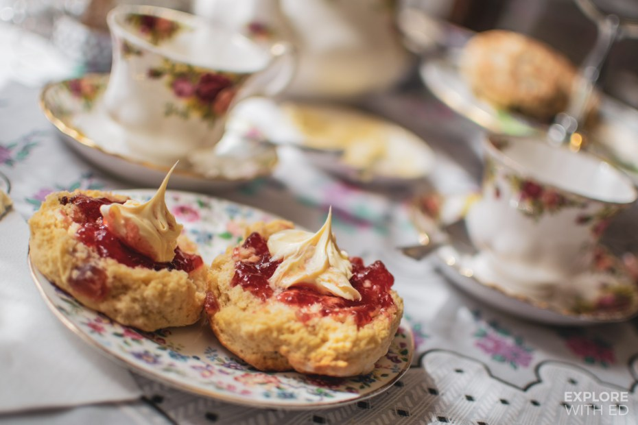 Cream tea at The Victorian Tea Rooms in Abergavenny, Wales