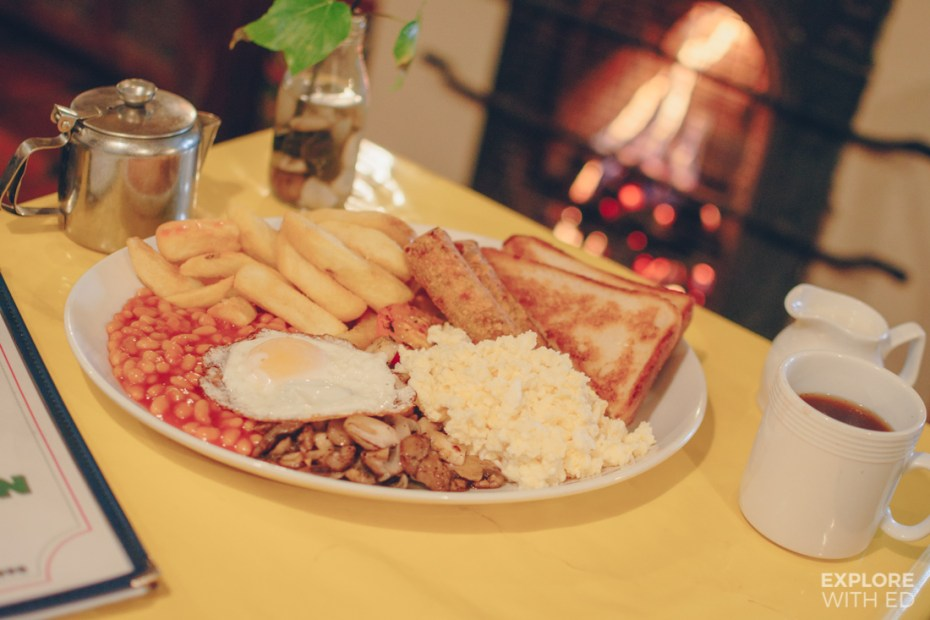 The famous Boatman Breakfast, The Lock Inn Cafe
