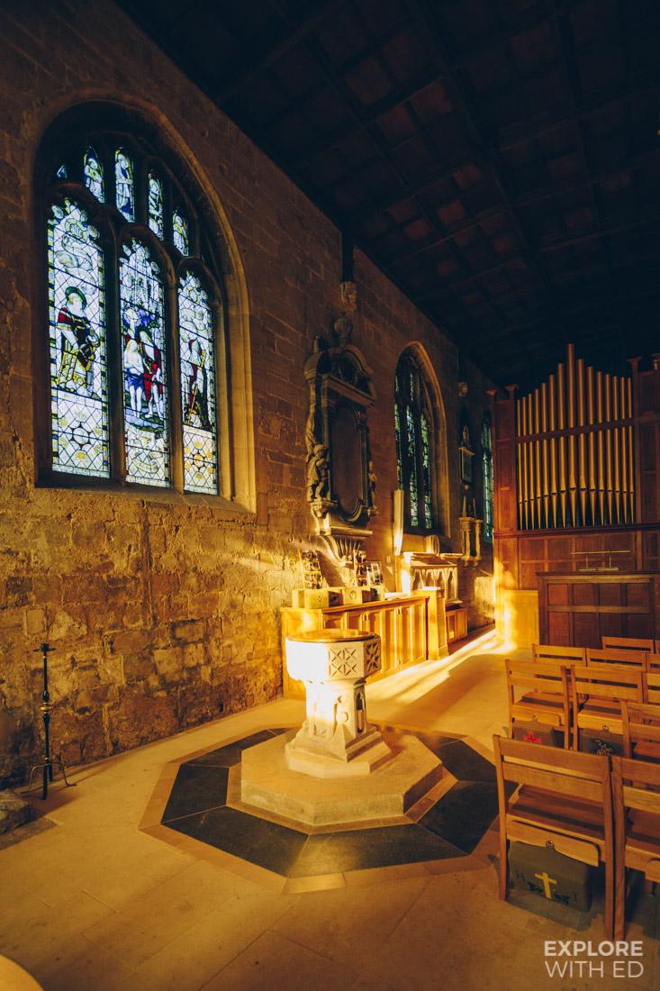 Inside The Holy Trinity Church in Bradford-on-Avon