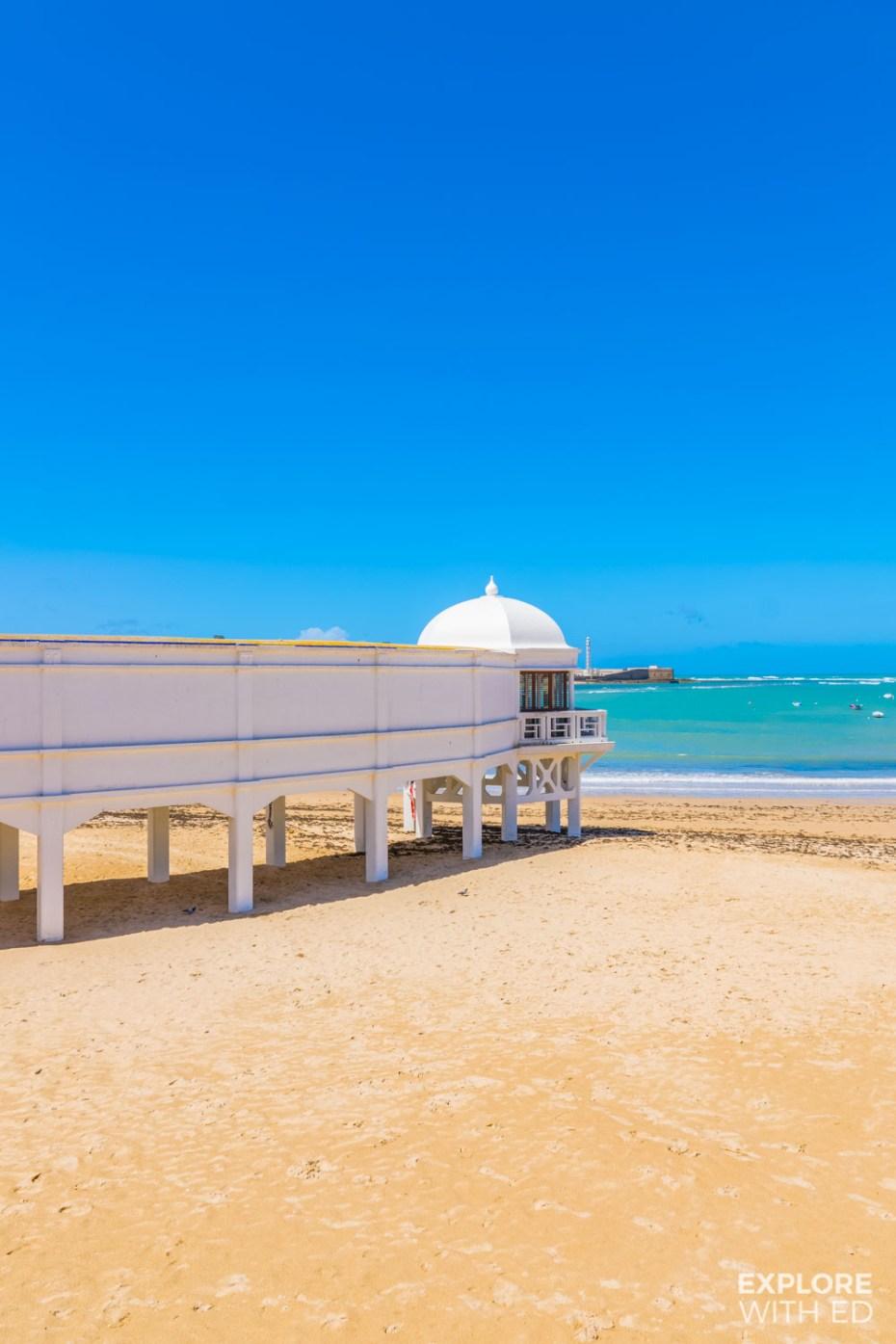 La Caleta beach in Cadiz