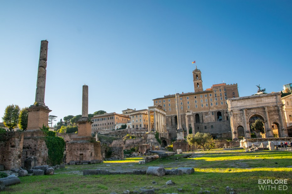 Roman Forum with ancient ruins