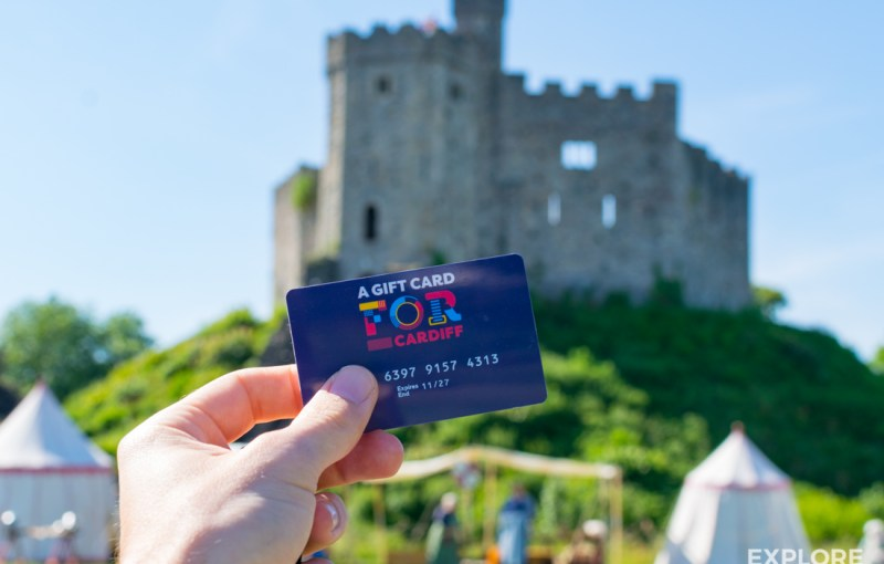 A FOR Cardiff Gift Card can be used to access Cardiff Castle and be spent in over 50 independent businesses in the city