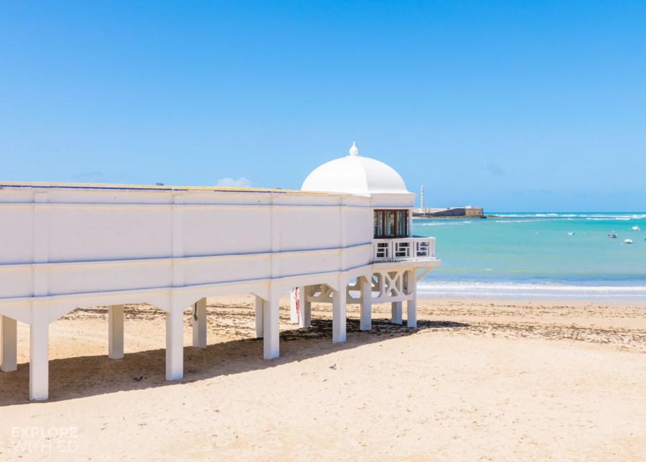 Playa de la Caleta beach in Cadiz
