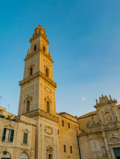 The beautiful Baroque architecture in Piazza del Dumomo in Lecce, Italy