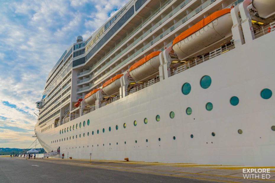MSC Musica docked in Brindisi