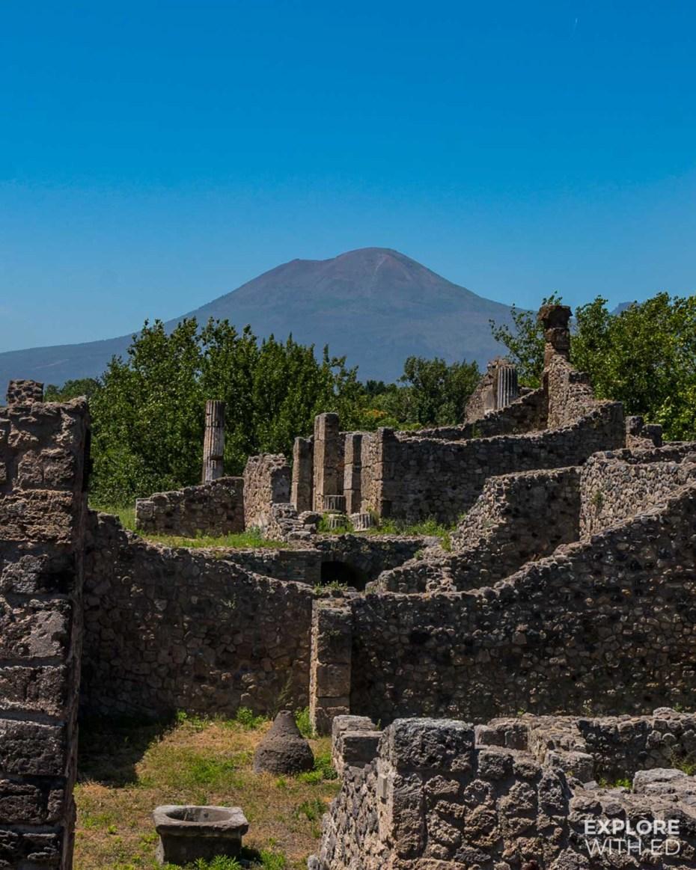 Visiting Pompeii and hiking Mount Vesuvius