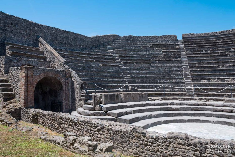 Theatre ruins at Pompeii
