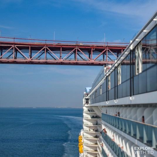 Cruising under the 25th of April bridge