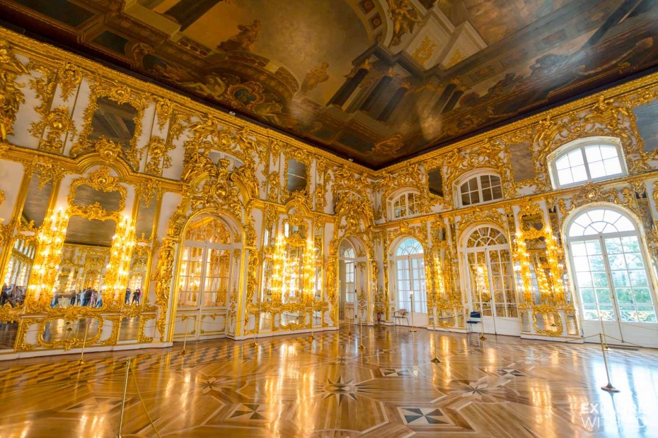 Inside Catherine Palace in St Petersburg