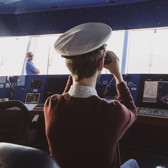 Bridge Tour on a cruise ship
