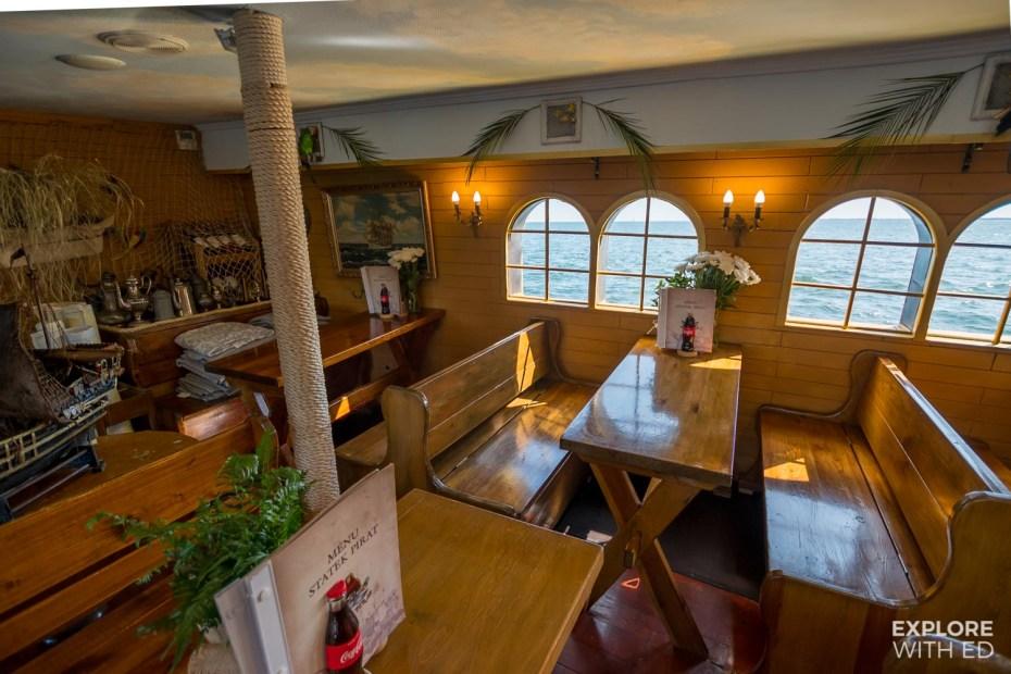 Restaurant on the Sopot Pirate Ship