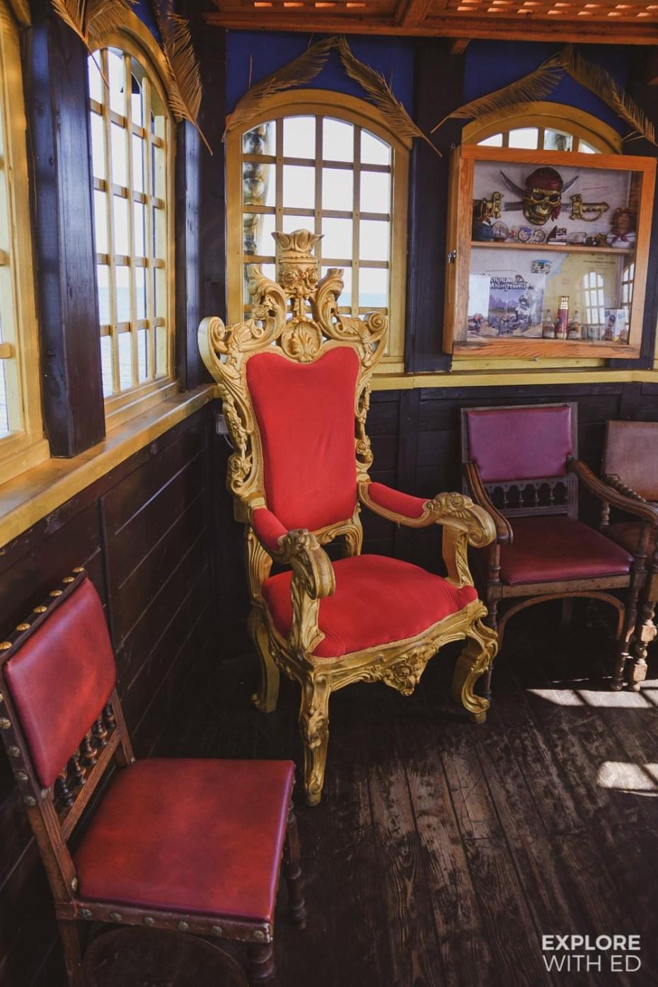 Sopot Pirate Ship - Captain's Chair