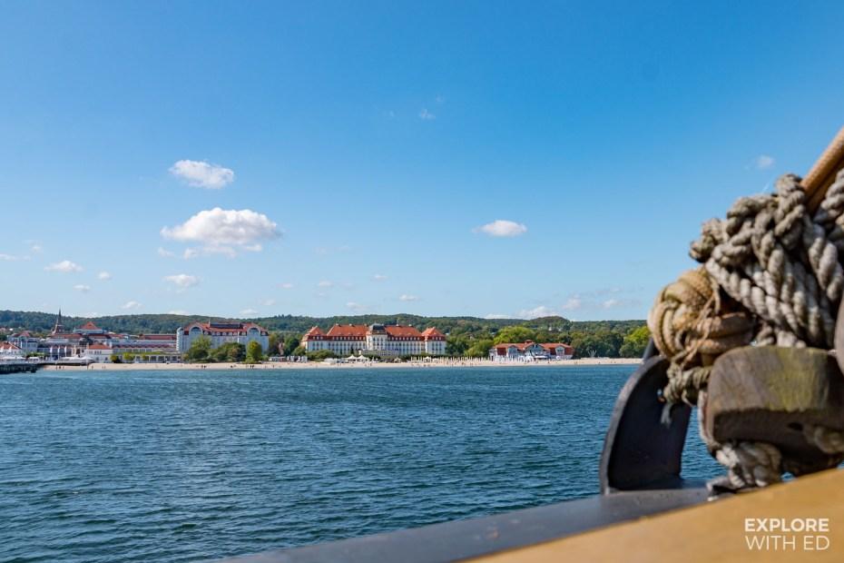 Sailing along the coast of Sopot, Poland