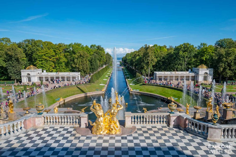 Sea view from Peterhof Palace