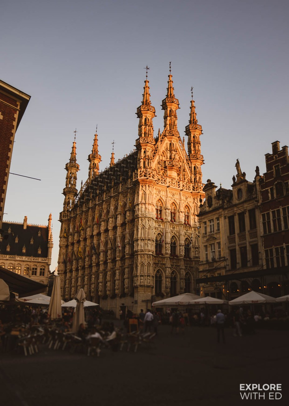 The beautiful Town Hall in Leuven took thirty years to build. It's one of the top historic sites in Leuven.