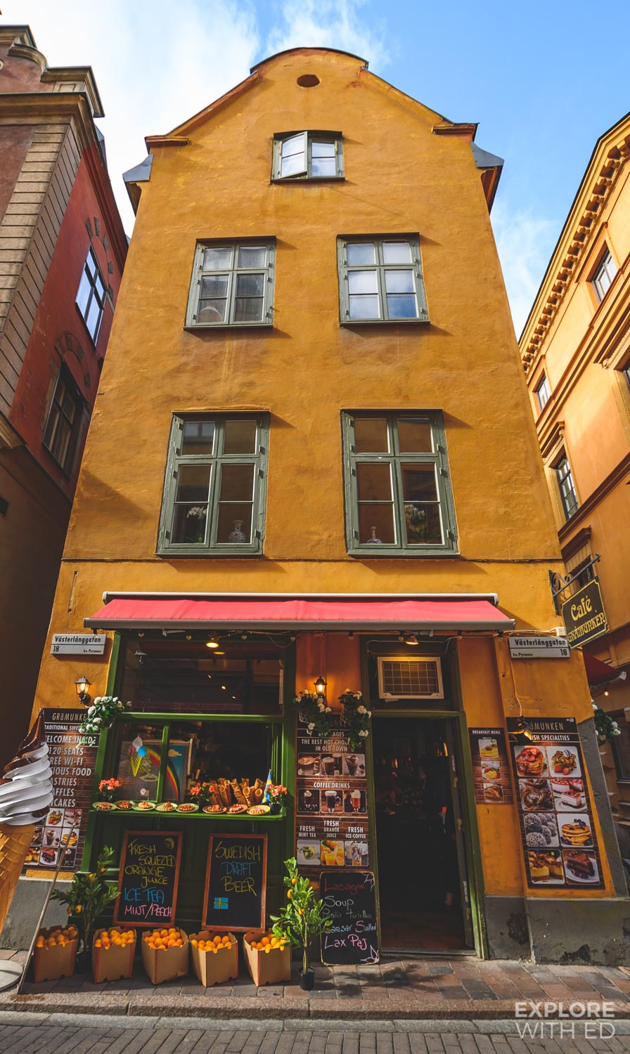 Charming cafes in Stockholm's Gamla Stan for Fika