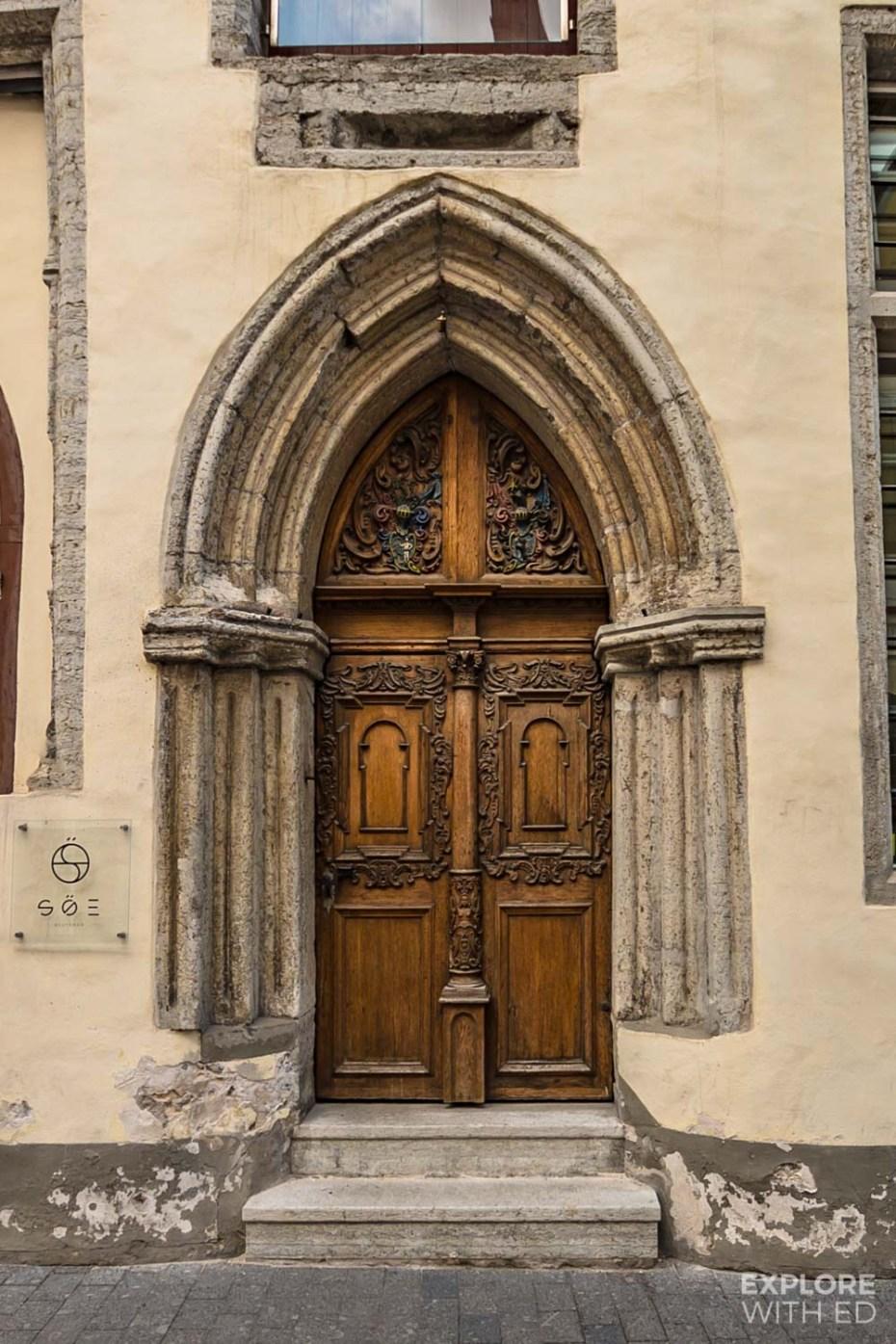 The old doors of Tallinn's old town