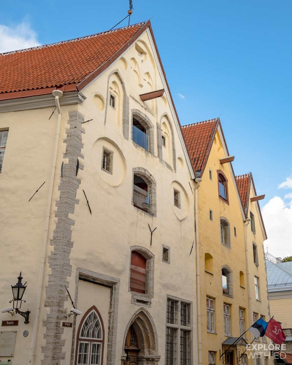 The Three Sisters Hotel in Tallinn's Old Town