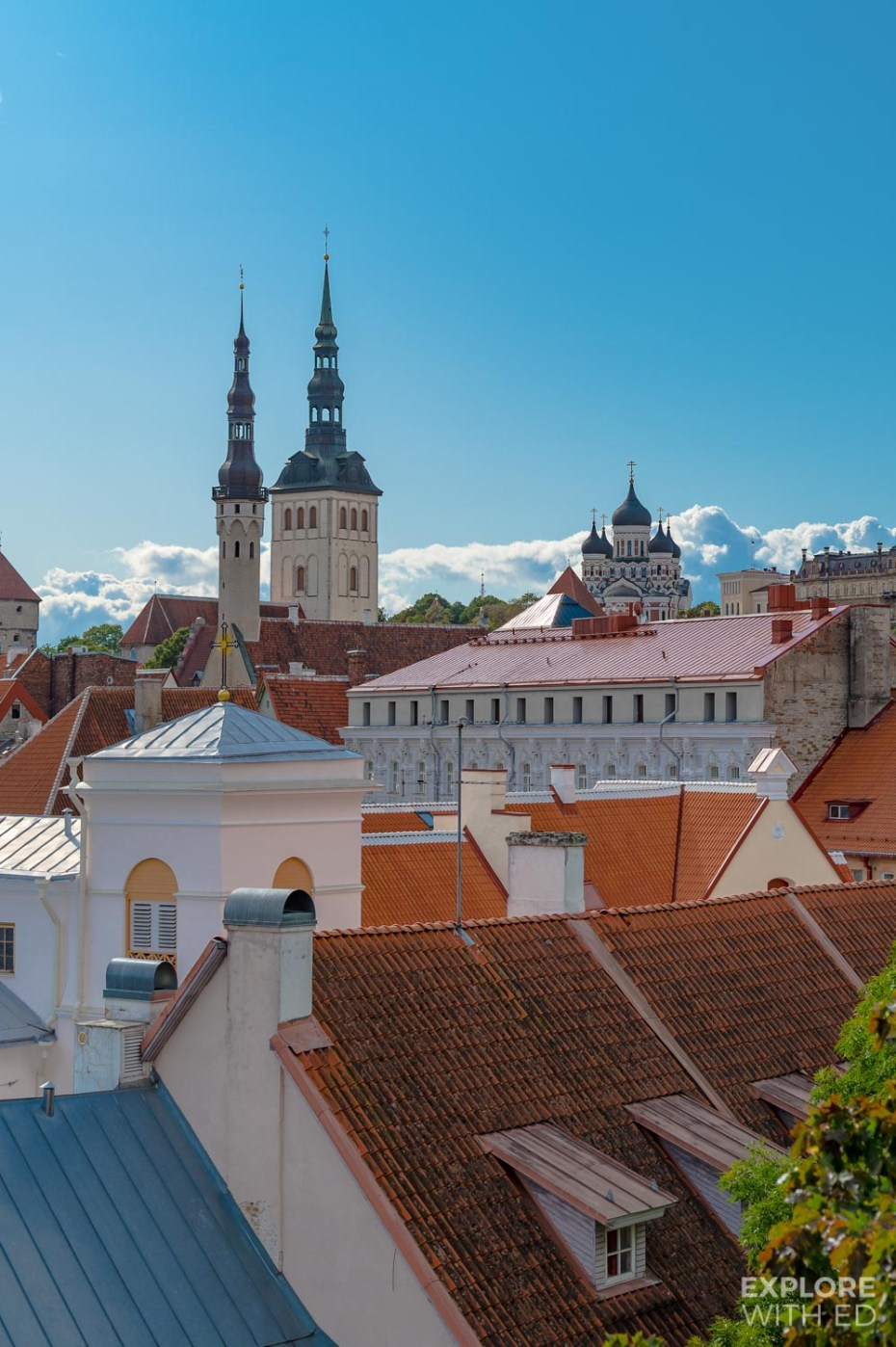 Magical rooftop view of Tallinn from the Hellemann Tower