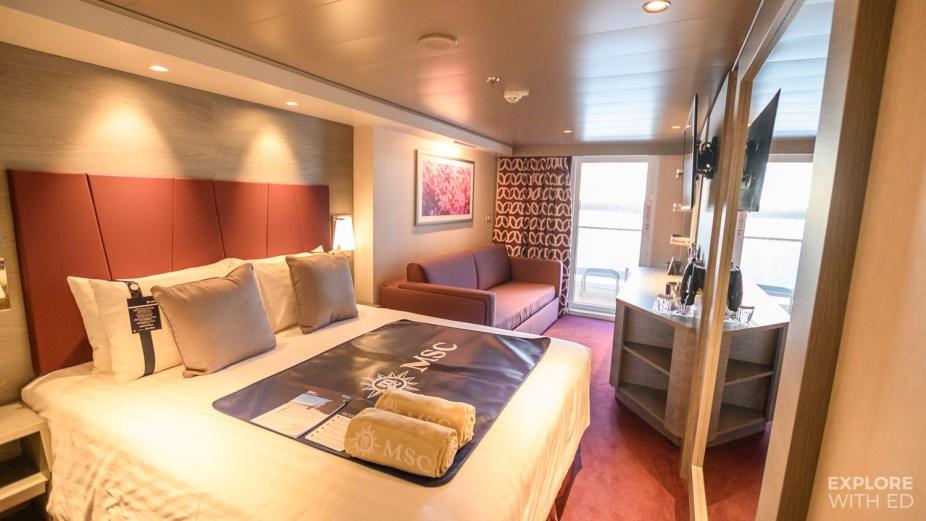 MSC Grandiosa Deck 8 Balcony Cabin