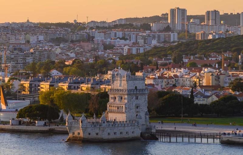 Cruising past the Belem Tower, Lisbon