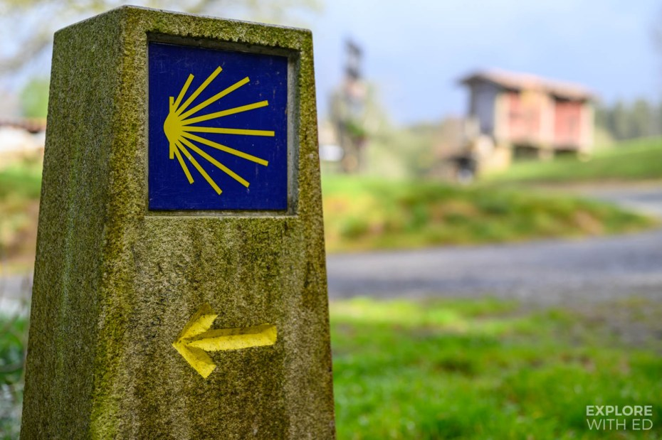 Seashell symbol on The Camino Way