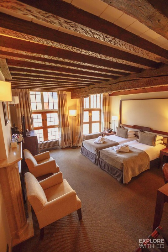 Martin's Klooster is a boutique hotel in Leuven with around 500 years of history. The rooms combine modern comforts with period features.