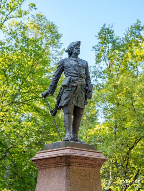 Statue of Peter The Great at Peterhof