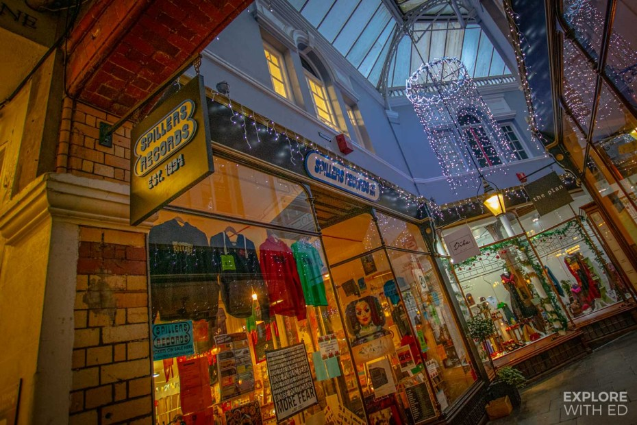 Spillers Records in Morgan Arcade, Cardiff